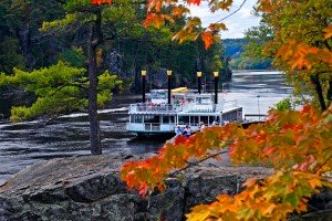 Paddleboat with Fall Leaves Taylors Falls