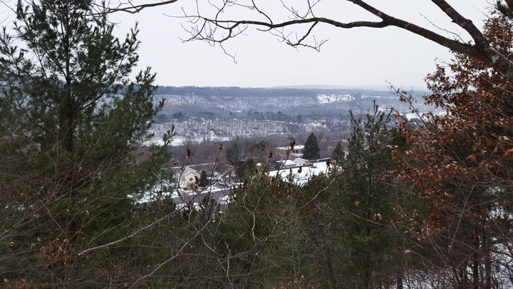 Esker Trail - city view