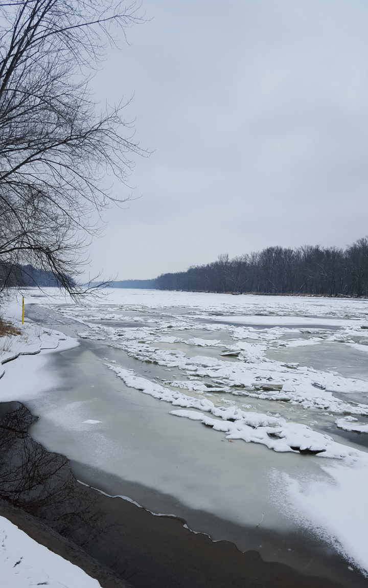 Riverside Trail - St. Croix River with Ice