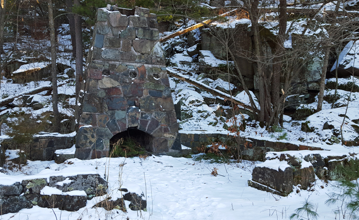 Summit Rock Trail Fireplace