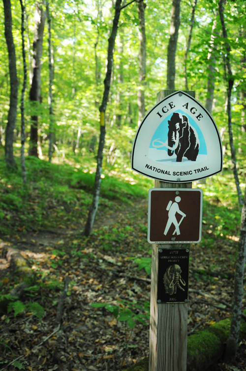The western start of the Ice Age National Scenic Trail starts in St. Croix Falls, WI