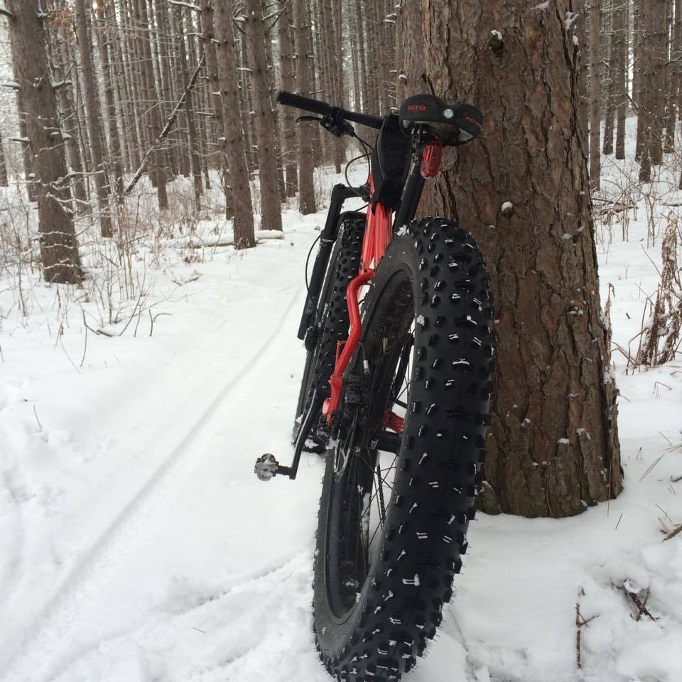Biking doesn't stop in Winter here. Photo courtesy of Wendi Lindemuth