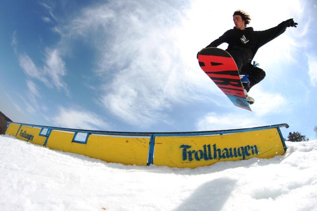Snowboard at Trollhaugen in Dresser, WI.