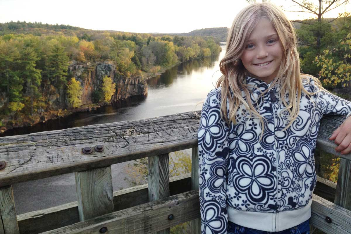 Girl on the St. Croix River